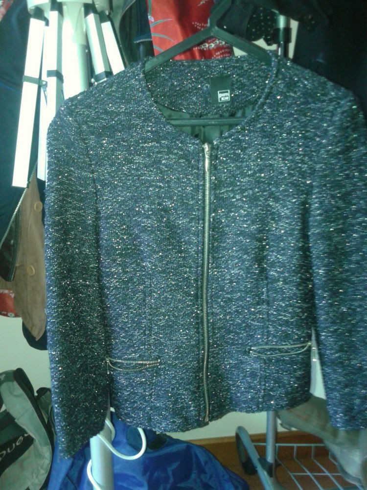 casaco classico e elegante preto antracite  novo 1