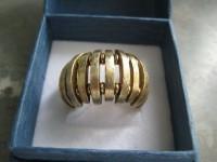 Anel prata dourada(nunca usado) 2