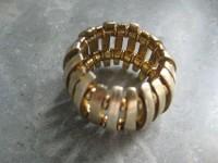 Anel prata dourada(nunca usado) 1