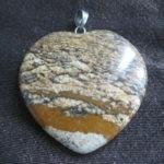 Pendente Coração pedra semipreciosas e prata(NOVO) 3