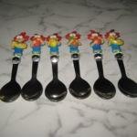 6 colheres bonecos YOCO(Nunca usadas) 3