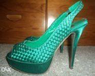 Sandálias verdes 37 como Novas 2