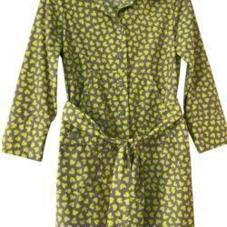 Grey & Lime Green Heart Print coat 3