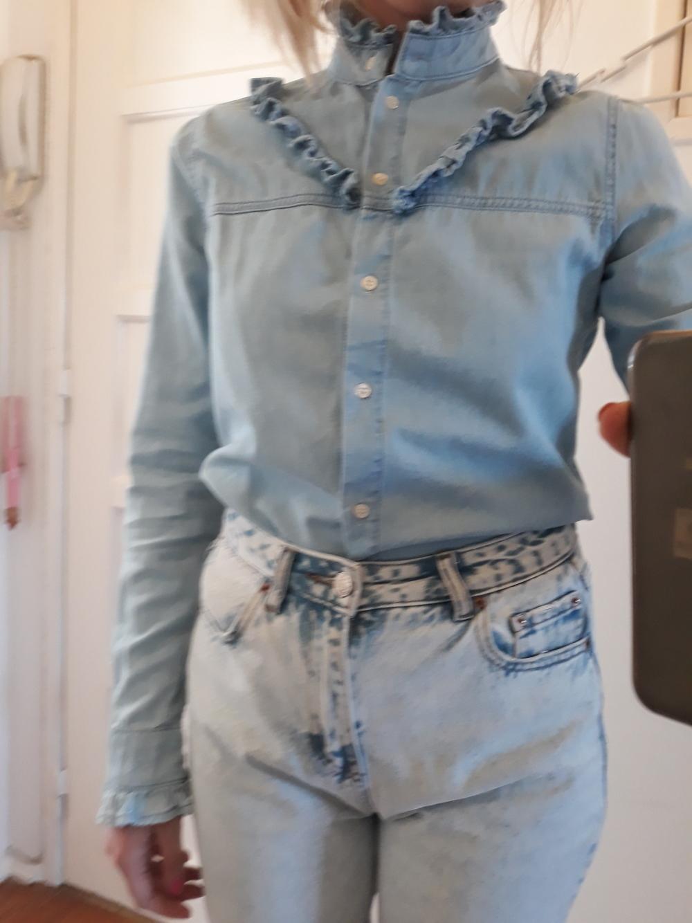 Blusa azul/denim look 5