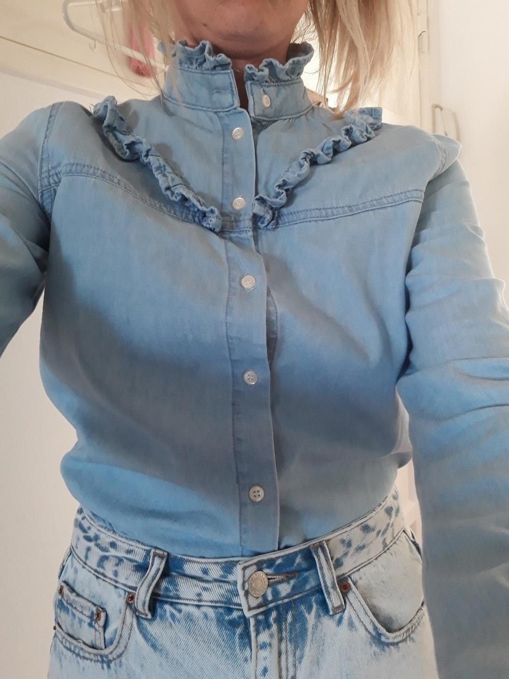 Blusa azul/denim look 1