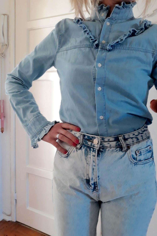 Blusa azul/denim look 2