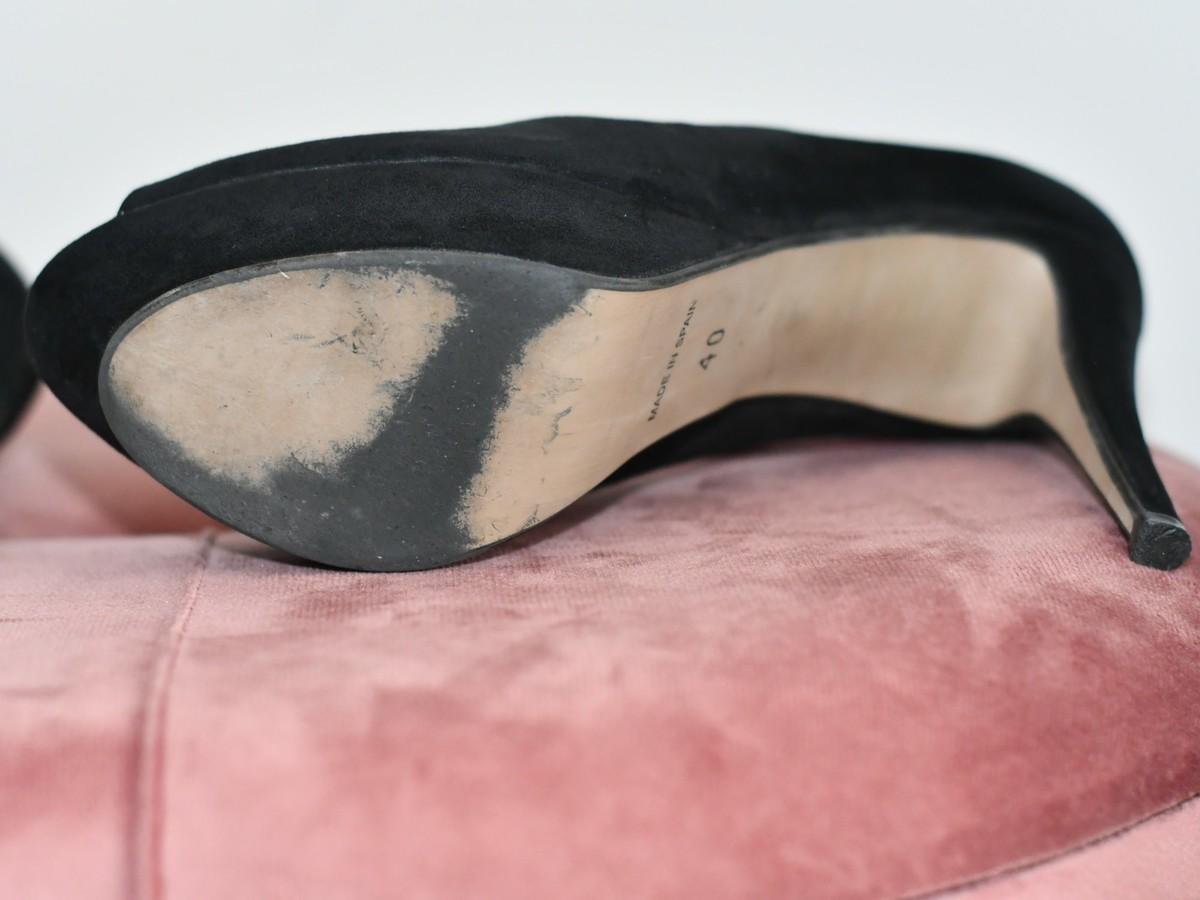 Sapato preto com plataforma 1