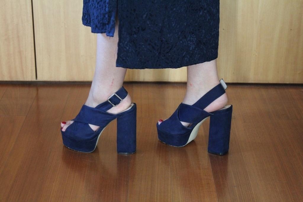 Sandálias azuis Manuel Alves - tamanho 35 5