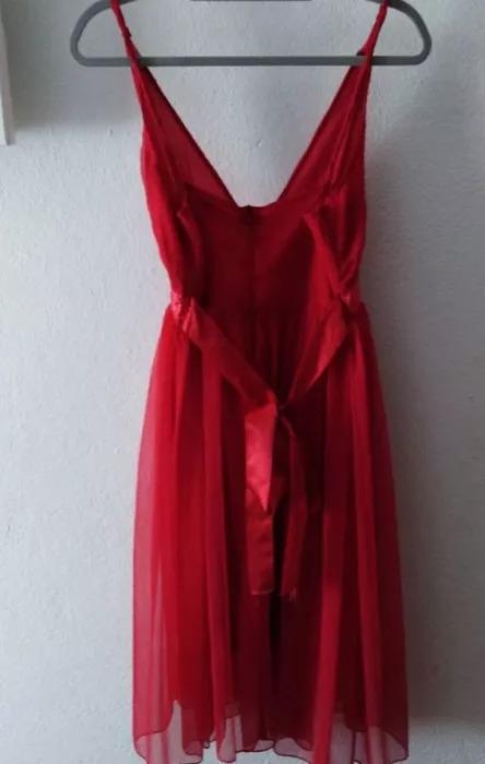 Vestido de cerimónia vermelho c/alças 2