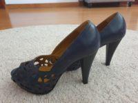Sapato alto azul marinho 2