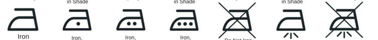 Simbolos de passagem a ferro
