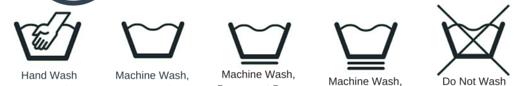 Símbolos de lavagem  à mão ou na máquina