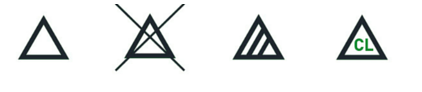 Simbolos - utilização de lixívia
