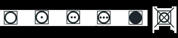 Simbolos de secagem e centrifugação