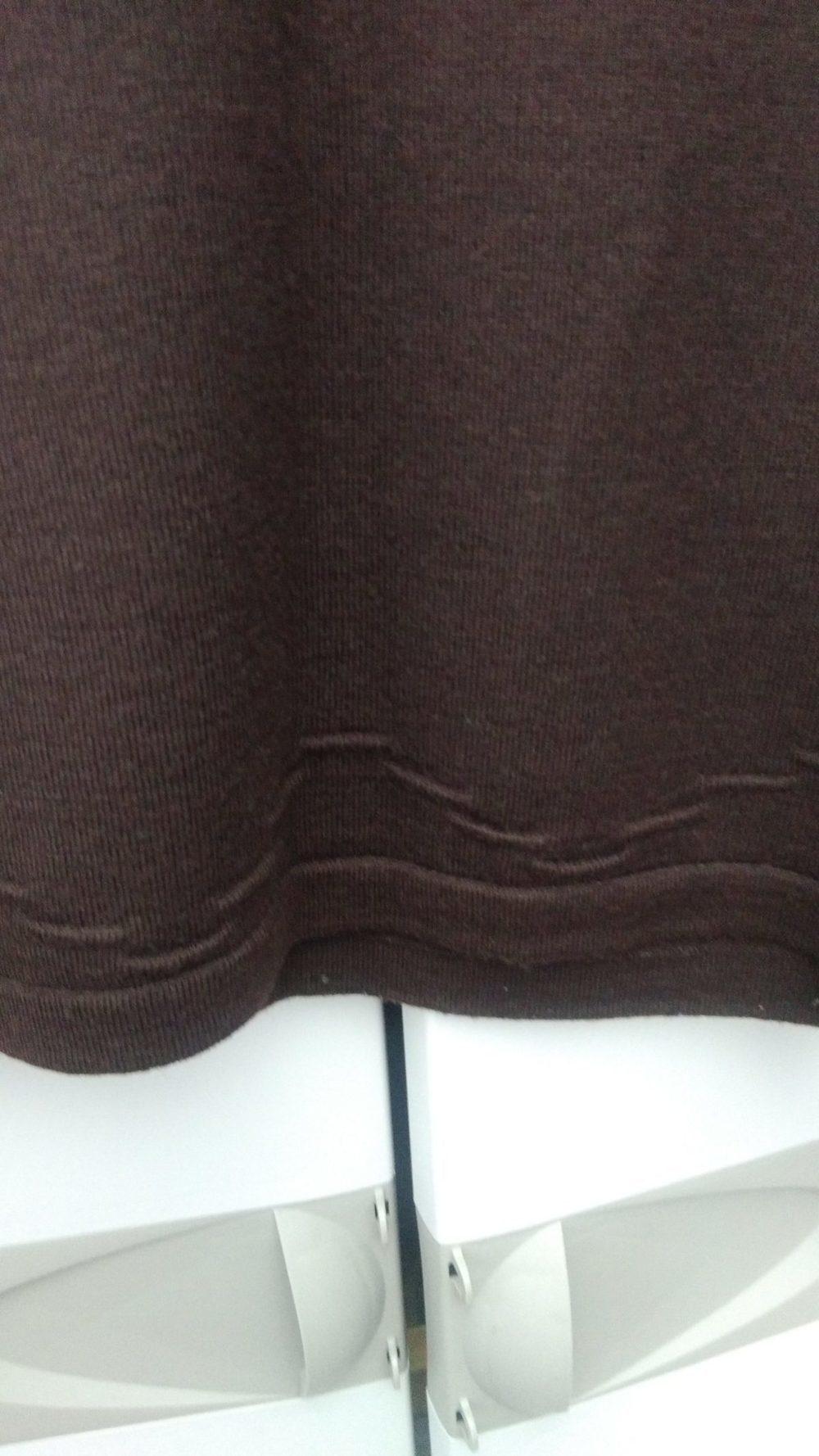 Camisola em malha manga curta  castanho escuro 2
