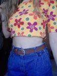 Camisola vintage, amarela às flores. 3